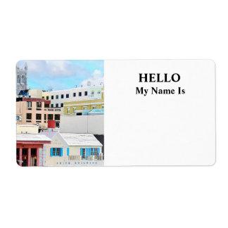 Horizonte de Bermudas - de Hamilton Etiqueta De Envío