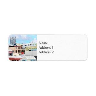 Horizonte de Bermudas - de Hamilton Etiquetas De Remite