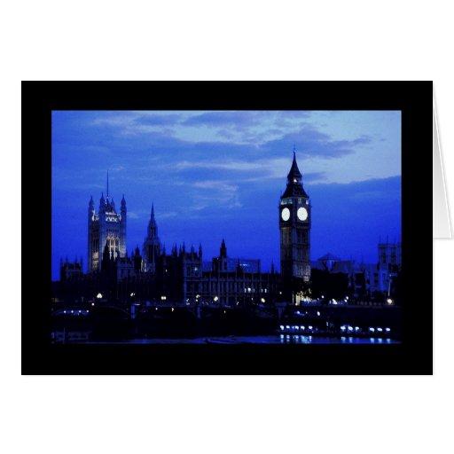 Horizonte de Big Ben Londres Tarjeta De Felicitación