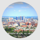 Horizonte de Birmingham, Alabama Pegatina Redonda