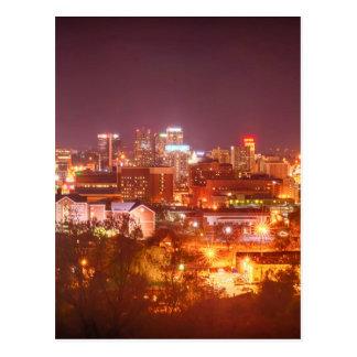 horizonte de Birmingham Alabama Postales