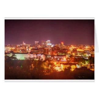 horizonte de Birmingham Alabama Tarjeta De Felicitación