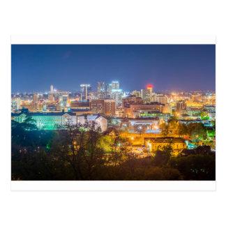 horizonte de Birmingham Alabama Tarjeta Postal
