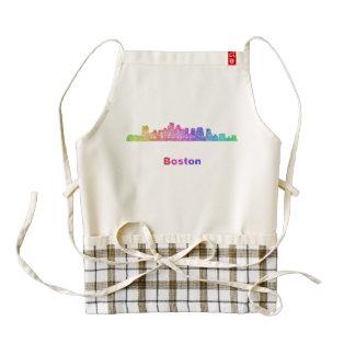 Horizonte de Boston del arco iris Delantal Zazzle HEART