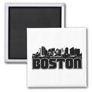 Horizonte de Boston Imán Cuadrado