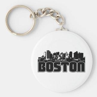 Horizonte de Boston Llavero Redondo Tipo Pin