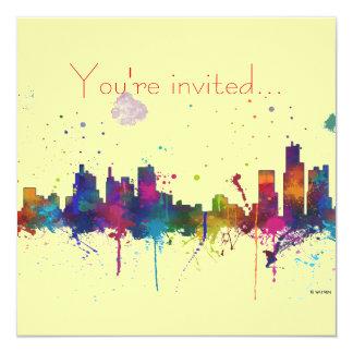 "HORIZONTE de BOSTON MASSACHUSETTS - invitaciones Invitación 5.25"" X 5.25"""