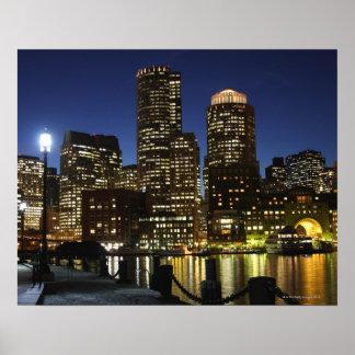 Horizonte de Boston, Massachusetts Poster