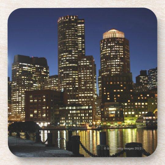 Horizonte de Boston, Massachusetts Posavasos De Bebidas
