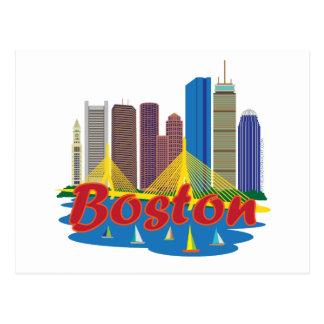 Horizonte de Boston Tarjeta Postal