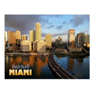 Horizonte de Brickell en Miami, la Florida Tarjeta Postal