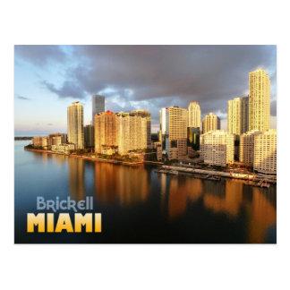 Horizonte de Brickell en Miami, la Florida Tarjetas Postales