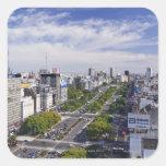 Horizonte de Buenos Aires Pegatina Cuadrada