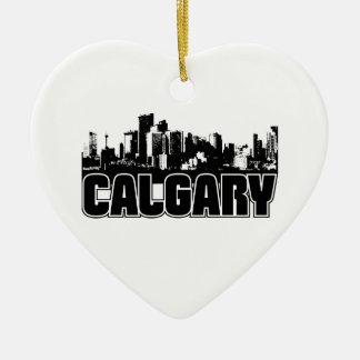 Horizonte de Calgary Adorno De Cerámica En Forma De Corazón