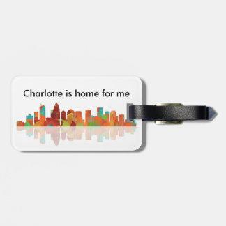 HORIZONTE de CHARLOTTE - etiqueta del equipaje Etiqueta Para Maleta