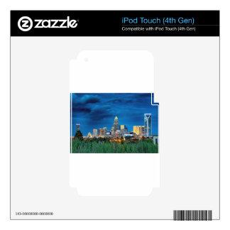horizonte de Charlotte nc iPod Touch 4G Calcomanías