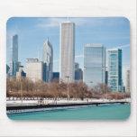 Horizonte de Chicago a través del lago Michigan co Alfombrilla De Ratón