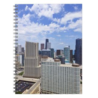 Horizonte de Chicago al norte del centro de la ciu Notebook