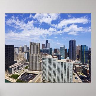 Horizonte de Chicago al norte del centro de la ciu Póster