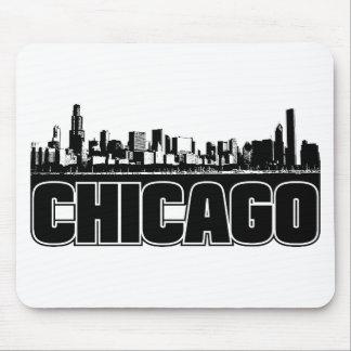 Horizonte de Chicago Alfombrillas De Ratones