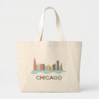 Horizonte de Chicago Bolsa Tela Grande