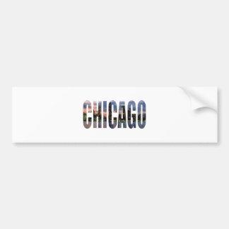Horizonte de Chicago Pegatina De Parachoque