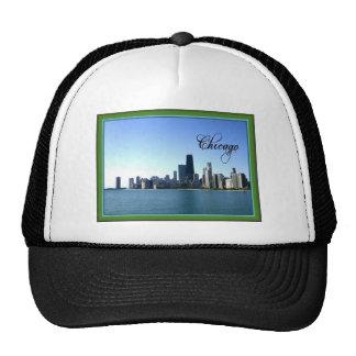 Horizonte de Chicago con la frontera verde clásica Gorras De Camionero