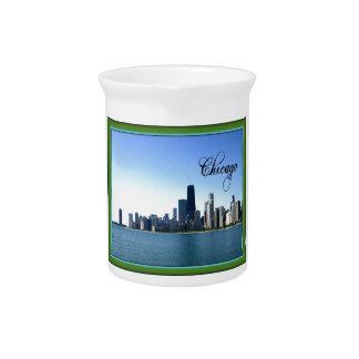 Horizonte de Chicago con la frontera verde clásica Jarron