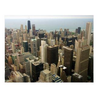 Horizonte de Chicago de Sears de la torre ahora Wi Tarjeta Postal