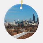 Horizonte de Chicago Ornamento Para Arbol De Navidad