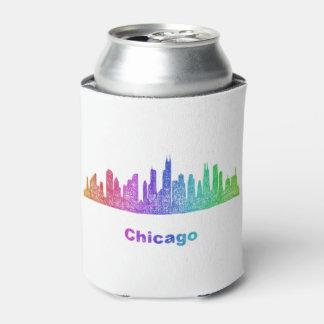 Horizonte de Chicago del arco iris Enfriador De Latas