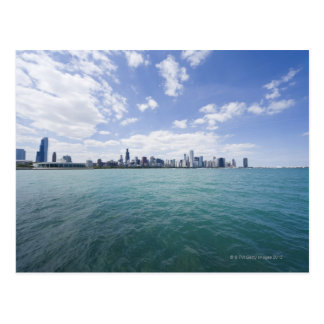 Horizonte de Chicago del lago Michigan, Illinois, Tarjeta Postal