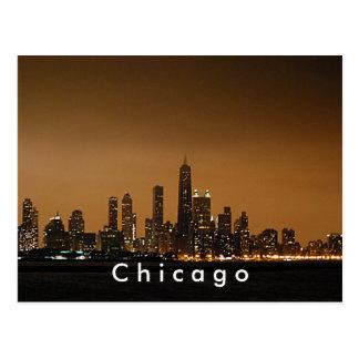 Horizonte de Chicago en el centro de Juan Hancock Postal