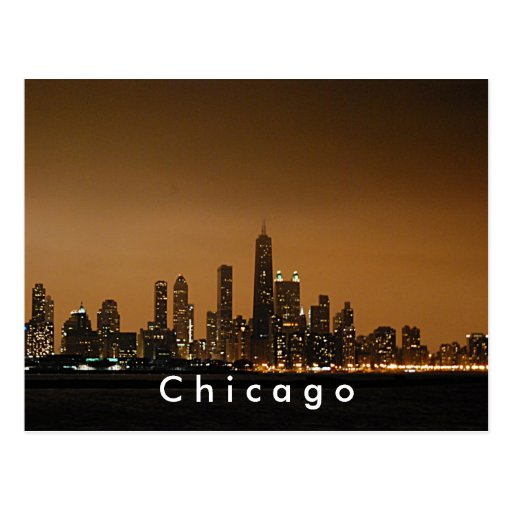 Horizonte de Chicago en el centro de Juan Hancock Tarjetas Postales