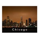 Horizonte de Chicago en el embarcadero de la marin Tarjeta Postal