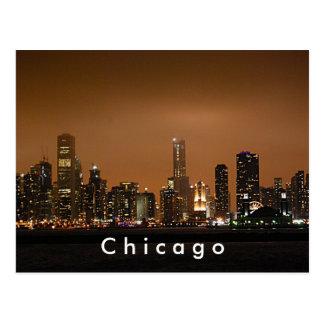Horizonte de Chicago en el embarcadero de la Postal