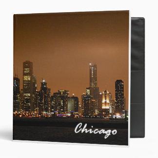 Horizonte de Chicago en la carpeta del recuerdo