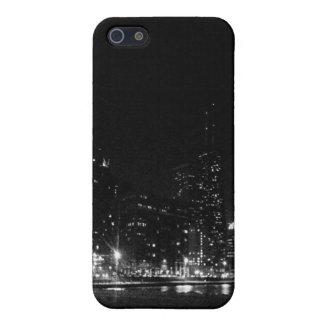 Horizonte de Chicago en la noche - caso mate iPhon iPhone 5 Coberturas