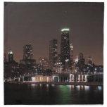 Horizonte de Chicago en la noche Servilleta