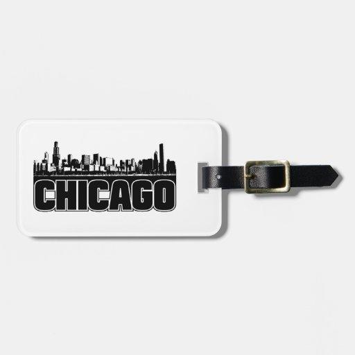 Horizonte de Chicago Etiquetas Bolsas