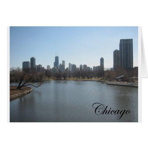 Horizonte de Chicago Felicitación