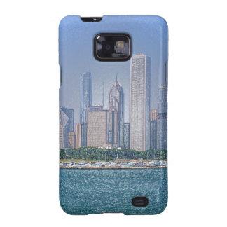 Horizonte de Chicago Galaxy S2 Carcasas
