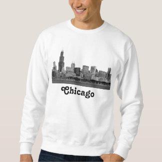 Horizonte de Chicago grabado al agua fuerte Sudaderas Encapuchadas