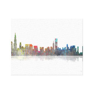 Horizonte de Chicago Illinios Lona Envuelta Para Galerias