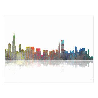 Horizonte de Chicago Illinios Tarjetas Postales