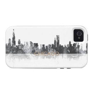 HORIZONTE de CHICAGO ILLINOIS - caso del iPhone 4 Carcasa Vibe iPhone 4