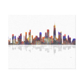 Horizonte de Chicago Illinois Lienzo Envuelto Para Galerias