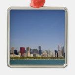 Horizonte de Chicago, Illinois, los E.E.U.U. Ornamento Para Arbol De Navidad