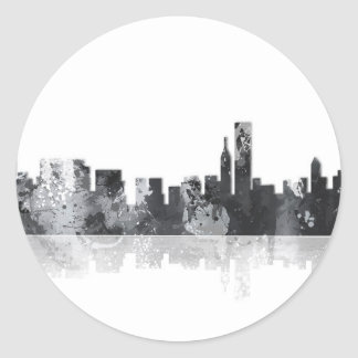 HORIZONTE de CHICAGO ILLINOIS - pegatinas Pegatina Redonda