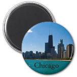Horizonte de Chicago Imán Redondo 5 Cm